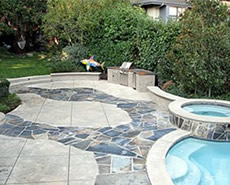 tom ralston stamped concrete pool deck