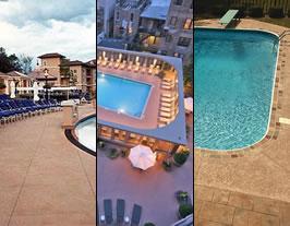 pool decks - swimming pool decking