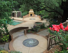 Concrete Pool Ideas expansive pool area with a stamped concrete deck design l m scofield company Pool Deck Ideas
